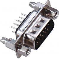 Quality D - SUB Dual Row 9 Pin Male Connector 180°DIP PBT Type Brass 3.0AMP Current Rating ROHS wholesale