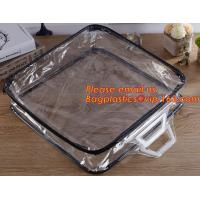 Quality Eco-friendly wholesale travel cosmetic bag clear zipper pvc cosmetic bag for women wholesale