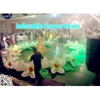 Buy cheap 10m Decorative Flower Chain Inflatable Flower String for Stage and Wedding Decoration product