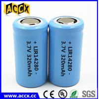Cheap 14280 li-ion small battery 3.7V 340mAh rechargebale 1-3C discharge lir14280 for sale