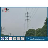 Quality Low Voltage 20m Dodecagonal Galvanized Electric Pole with Bitumen Painted  Q345 wholesale