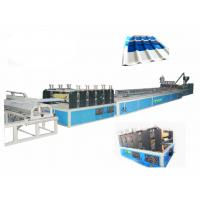 Quality PVC Twin - Wall Hollow Roof Sheet Plastic Extrusion Machine With Haul Off Machine wholesale