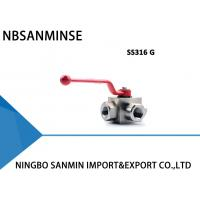 Quality KHB3K SS316 Three Way Hydraulic Ball Valve Corrosion Resistance Normal Temperature wholesale
