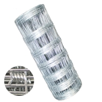 Galvanized 1.8m height Wire Mesh Fence Longitude Firm Knot For Farm Fence for sale