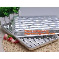 China disposable roasting aluminum foil BBQ pan,Foil BBQ grill pan with hole Turkey pan Outdoor Barbecue roaster tray for food on sale