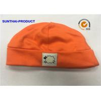 Quality Trendy Baby Bibs And Hats Solid Tangerine Color One Size Unisex Baby Hats wholesale