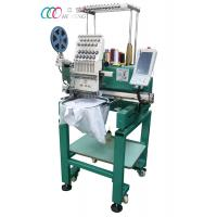 China Single Head Computerized T-shirt Embroidery Machine With Single Sequin Device on sale