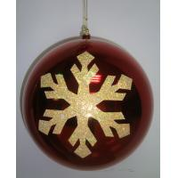 Quality 2cm - 60cm Ball Personalised Christmas Decorations Baubles with Golden Snowflake wholesale
