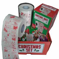 Quality wholesale price christmas printed toilet paper 2ply  250 sheets continuous roll to roll printing Multicolor printing wholesale