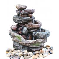 Quality Creek Cascading Water Fountains Outdoor , Large Garden Water Fountains In Magnesia Material wholesale
