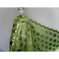 Quality Apple Green French Lace Fabric Embroidered , Knitted Lace wholesale