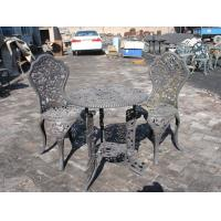 Quality Aluminum Cast Iron Table And Chairs / Powder Coating Cast Iron Table Ends wholesale