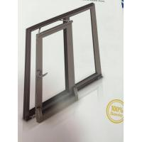 Quality Thermal Break Tilt and Sliding Aluminium Window Profiles with Brown Color wholesale