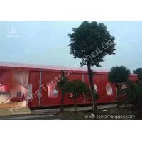 Quality Popular Red Color 20m Width Luxury Wedding Party Tent Marquee with Top and Wall Curtains wholesale