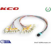Quality QSFP Fiber MPO MTP Patch Cord , MTP To LC Breakout Cable 24 Fan Out wholesale