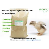 Quality Feed Grade Animal Feed Enzymes Bacterial Alpha Amylase Light Brown Powder 10000 U / g wholesale