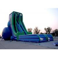 China Customized 0.55mm PVC Fire Resistant Outside Big Inflatable Slide Rental on sale
