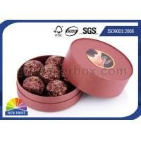 Quality Customized Round Chocolate Packaging Box with Printing , Small Candy Coated Paper Boxes wholesale