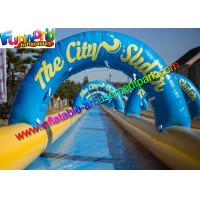 Quality Giant 100M Famous Inflatable Big Water Slide , Inflatable City Slide  For Summer wholesale
