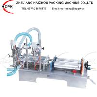 China Stainless Steel Semi Automatic Liquid Filling Machine Electric And Pneumatic Driven Type on sale
