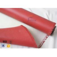 Cheap 1200℃ Red Silicone Coated High Silica Fabric For Thermal Insulation Materials for sale