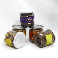 Quality Round Dry Food Canister Clear Pet Jars with easy open lid , Wide Mouth Plastic Jars , PE Clear Cap wholesale
