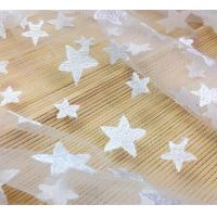 China Pentagram Qmilch  embroidered Lace Fabric , star lace fabric,Cotton Lace, Polyester Lace Fabric on sale
