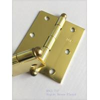 Quality High Lights Ball Head Heavy Duty Door Hinges , Cabinet Door Hinges Bright Color wholesale