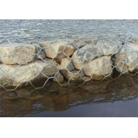 China 4x1x1 Weaving PVC Coated Wire Mesh For Flood Bank on sale