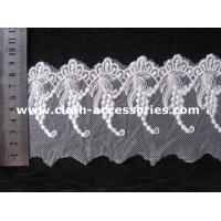 Quality Wedding Off White Guipure Embroidered Lace Fabric With Graped Shape wholesale