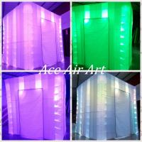 Quality Ace Air Art  new style white fabric  led lighting giggles and laugh  inflatable photo booth for USA wholesale