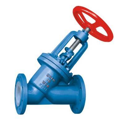 Fluorine stop valve J45F46-16C