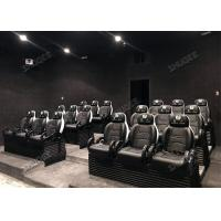 Quality Aesthetic Genuine Leather Mobile 5D Cinema Three Seats In A Set For Amusement Park wholesale