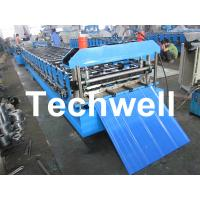 Quality Metal Automatical Roof Panel Cold Roll Forming Machine with 0 - 15 m/min Speed wholesale