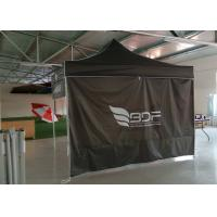 Quality Commercial Grey 3x3 Waterproof Pop Up Gazebo With Side Panels , Digital Print wholesale