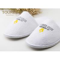 China Light Soft White Cheap Disposable Slippers For Guests Unisize on sale