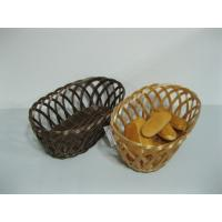 Quality Well-designed Weaving Hollow PP Pollution Rattan Fruit Basket For Bakery wholesale