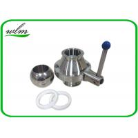 Cheap High Sanitary Ball Valves , Stainless Steel Butterfly Valve For Beverage Industry for sale