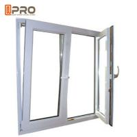 Quality Anti - Aging Dark Grey Tilt And Turn Aluminum Windows With Mosquito Net wholesale