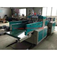 Quality High Efficiency Garbage Bag / T Shirt Bag Making Machine With Convey Belt wholesale