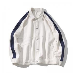 China Fashion streetwear clothing custom wholesale cheap mens contrast colour denim jackets on sale