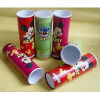 Quality Complicated Paper Tube Containers with Metal Bottom and Caps for Photo Chips Packaging wholesale