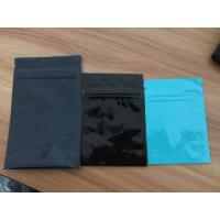 Quality Shining Clear Flat Mylar Foil Ziplock Pouch Packaging For Chil Seed / Green Tea for sale