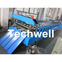 Quality Metal Roofing Sheet Cold Roll Forming Machine with Hydraulic Post Cutting wholesale
