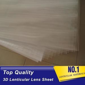 China 100lpi 0.58mm PET lenticular sheet  lens plastic film lenticular printing sheet lenticular sheet importer in usa on sale