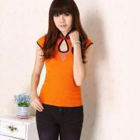 China Ladies' Knitted Shirt/Beauty Office Clothing Outdoor Leisure Shirt, OEM Orders Welcomed on sale