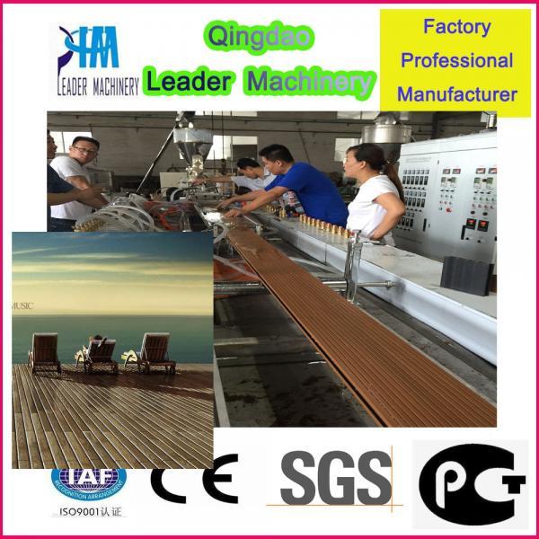 Cheap Plastic profile machine, WPC outdoor floor production machine for sale