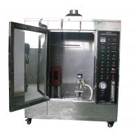 Quality Conveyor Vertical Fire Testing Machine / Flammability Test Chamber ISO340 wholesale