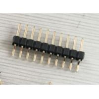 Quality 2.54mm Pitch Connector SMD Gold Flash Pin Header With Glass Filled PA6T Material wholesale