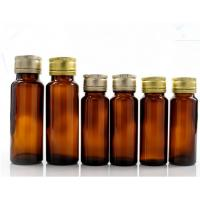 Quality Oral Liquid Syrup Pharmaceutical Medical Round Amber Glass Bottle With Lid wholesale